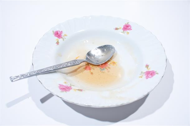 Illustrasjonsfoto av tom matskål. Foto.