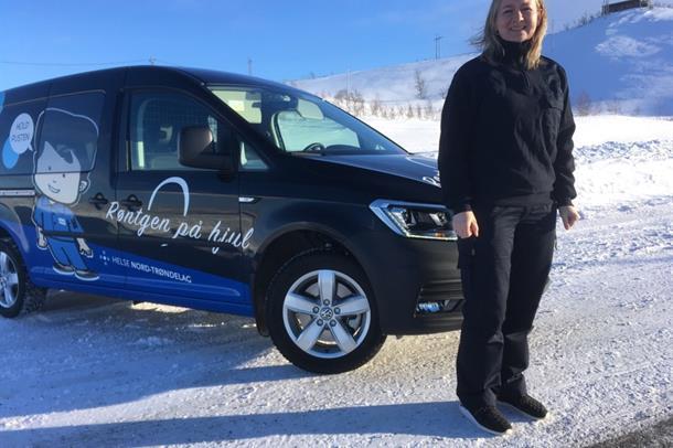 Prosjektleder for Mobilt Røntgen i Namdalen, Kristin Marie Brembu, foto.
