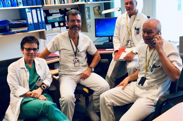 Fire transplantasjonskoordinatorer. Foto.