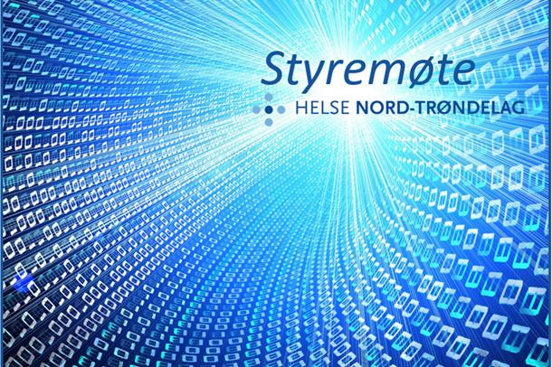 Styremøte, Helse Nord-Trøndelag. Grafikk.